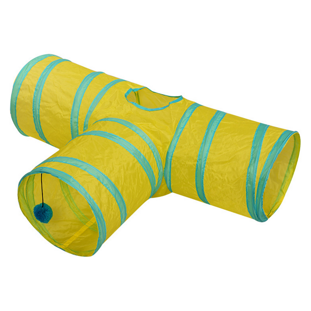 14styles Foldable Pet Cat Tunnel 2/3/4/5 Holes Pet Tube Collapsible Play Toy S-type Indoor Outdoor Kitty Puppy Training ToysTube 21