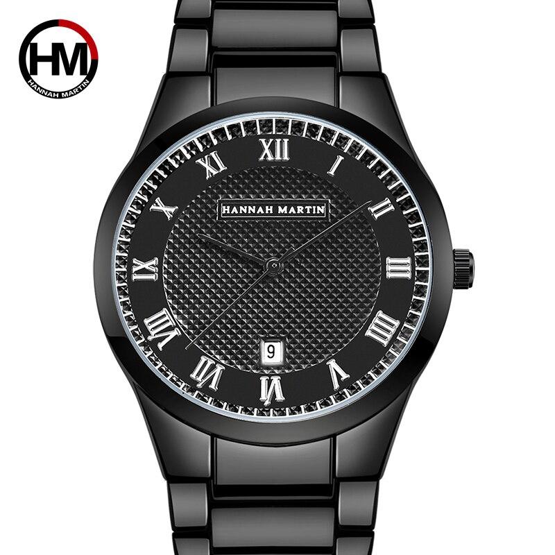 HM Classical Business Men Watch Quartz Top Brand Luxury Dress Clock Big Dial Waterproof Wristwatch Waterproof Man Wristwatch