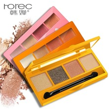 ROREC  Matte Eye Shadow Professional Cosmetic 4 Colors Make Up Set Nudes Makeup Eyeshadow Palette Brighten top quality