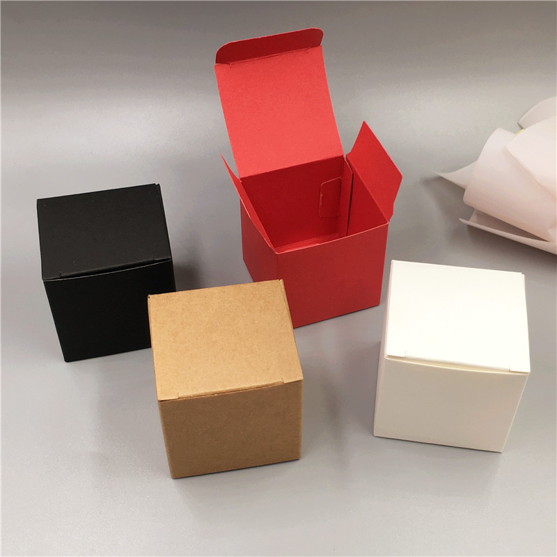 100Pcs 5*5*5cm Paper Box New Cute Mini Sugar/Chocolate/Nuts Storage Boxes Personal Jewelry Box Paper Cup Cake Gift Boxes