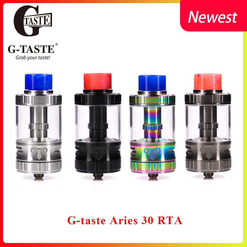 E Cigarette Vape Tank G taste Aries 30 RTA 10ml 6ml Unique screw AFC system 510