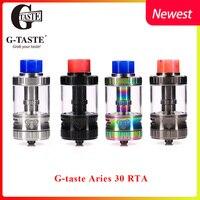 E Cigarette Vape Tank G taste Aries 30 RTA 10ml/6ml Unique screw AFC system 510 Vape Atomzier vs Steam Crave Titan RDTA