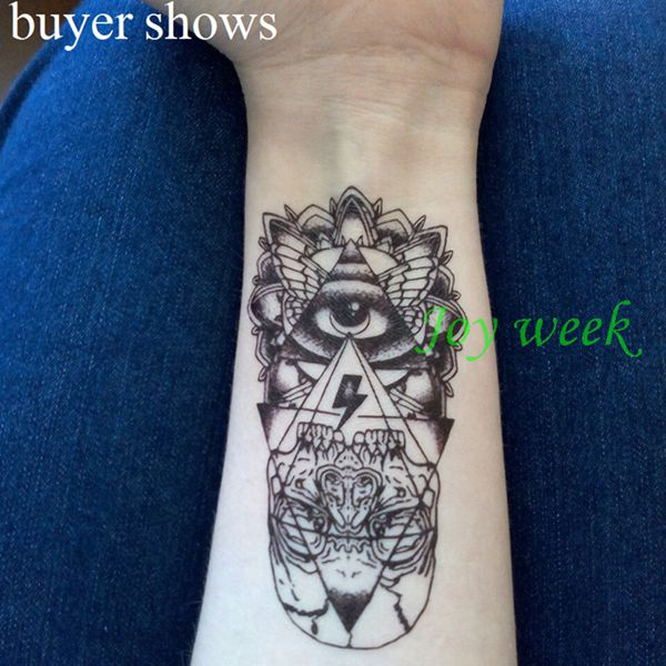 25 designs Waterproof Temporary Tattoo Sticker eye of God totem myth arrow anchor tatto flash tatoo fake tattoo for women men