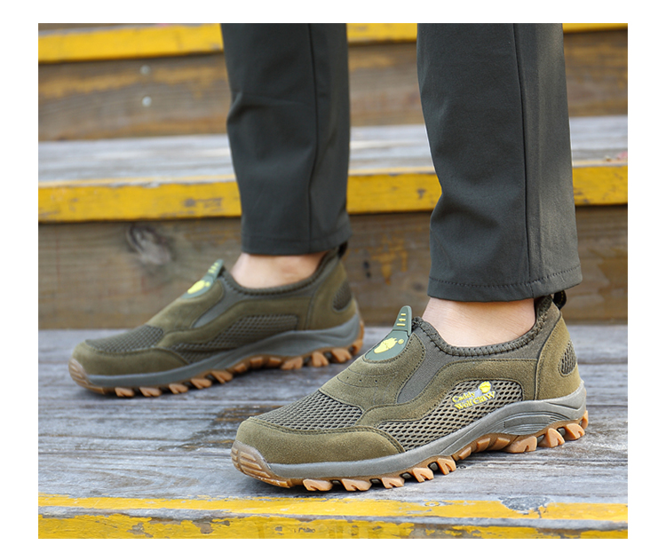 Comfortable Mens Walking Shoes Summer Breathable Slip On Sport Sneakers Beach Water Shoes Outdoor Men Athletic Sneakers 12