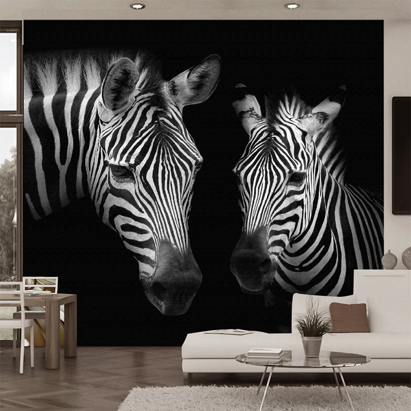 Custom Photo Wall Paper 3D Black And White Zebra Murals Living Room Study Background Wall Home Decor Abstract Art Wallpapers 3 D shinehome black white cartoon car frames photo wallpaper 3d for kids room roll livingroom background murals rolls wall paper
