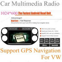 For Android 4.4 Car multimedia stereo radio GPS Navigation Radio Support OBDll 3G DVR For Volkswagen VW Tiguan 2013 2014 2015