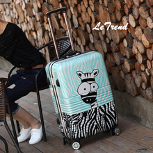 LeTrend Rolling Luggage Women 20 inch Aluminum Frame Trolley Men Trunk Donkey Suitcase Password Travel bag 24 inch Boarding Box