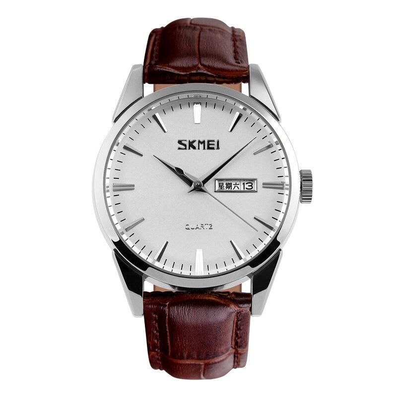 SKMEI Women Watches Quartz Men Couples Watch Top Brand Luxury Fashion Business Date Female Wrist Watch Relogio Feminino New 9073