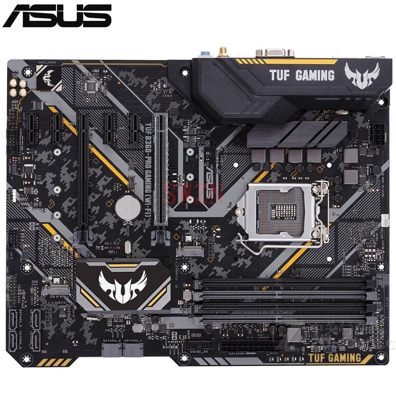все цены на original New Desktop motherboard For ASUS TUF B360-PRO GAMING (WI-FI) B360 LGA 1151 4*DDR4 support 64G 6*SATA III 2*M.2 ATX