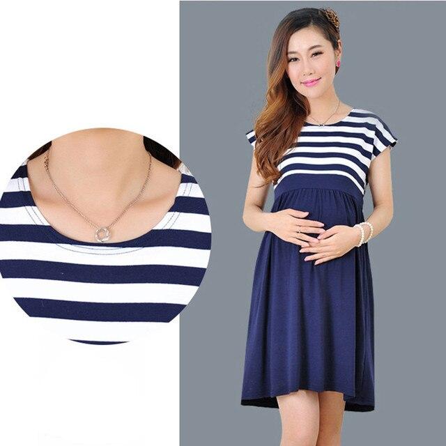 ZTOV Women Long Dresses Maternity Nursing Dress for Pregnant Women Pregnancy Women's dress Clothing Mother Home Clothes L/XL/XXL Maternity Dresses