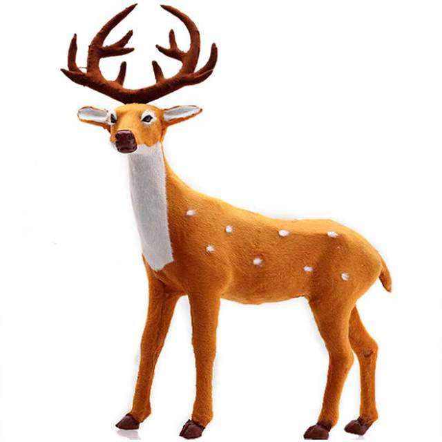 decoration christmas reindeer deer reindeer santa craft elk xmas decoration ornaments supply for home tree decor