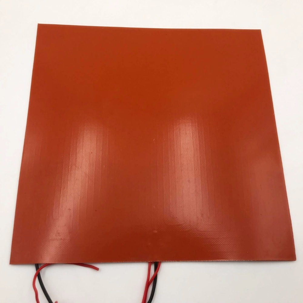 Funssor <font><b>24V</b></font> 300W Square Silicone Rubber Heater Mat 300 x 300mm Reprap 3D printer silicone rubber heating plate mat sheet plate image