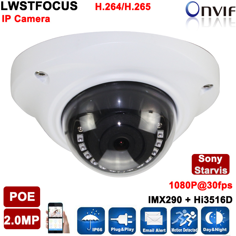 ФОТО Sony Starvis POE IP Camera 2mp Outdoor Full HD 1080P Security Dome Camara Onvif IR Led Night For 20M IP Network Surveillance cam