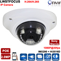 Sony Starvis POE IP Camera 2mp Outdoor Full HD 1080P Security Dome Camara Onvif IR Led Night For 20M IP Network Surveillance cam