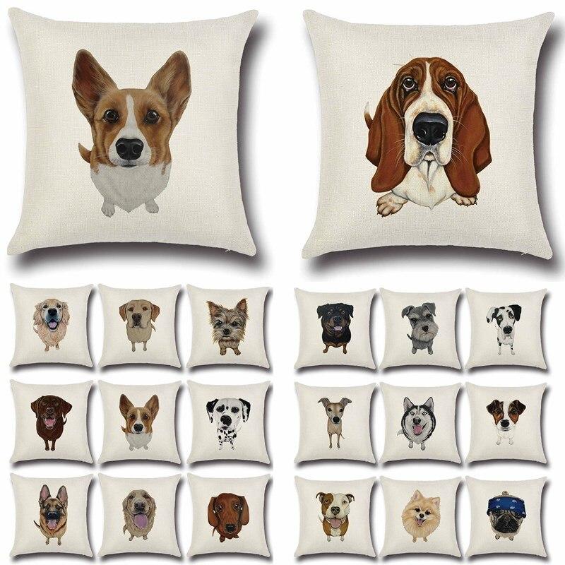 ᗕ1 unids perro PUG bulldog patrón de algodón de lino Mantas ...