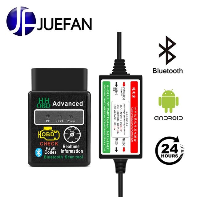 Big Promo new ELM327 Bluetooth diagnostic tool elm 327 version 2.1 OBD2 for Android car code scanner free torque + buck line