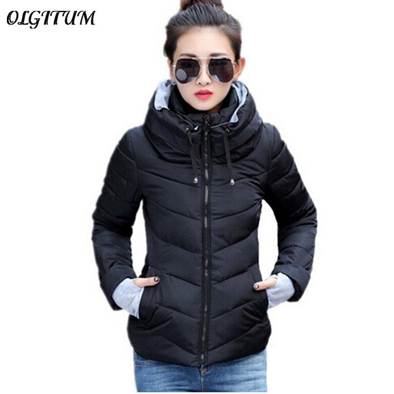 2018 New women plus size long sleeve warm light down ...