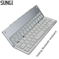 Mini Ultra Thin Bluetooth 3 0 Foldable Keyboard Wireless Portable Folding BT With Charging Keyboard For