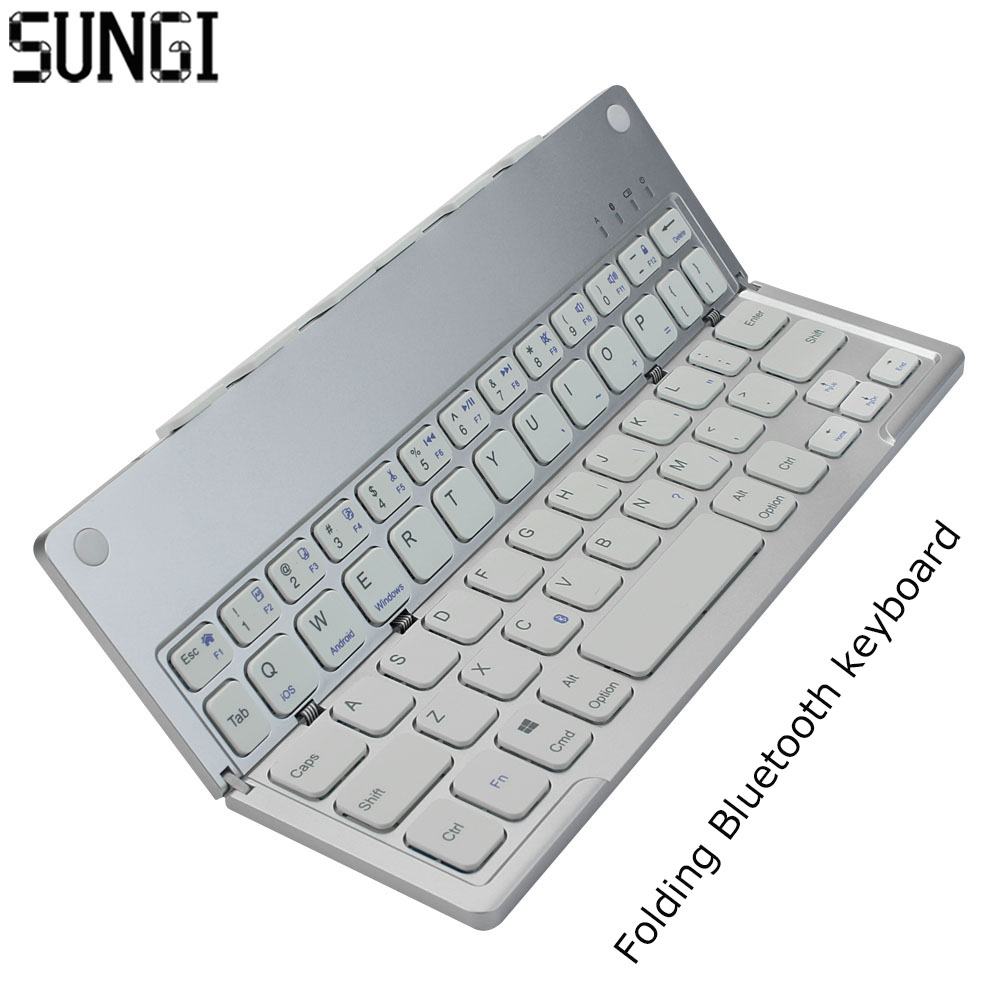 Mini Ultra Thin Bluetooth 3.0 Foldable Keyboard Wireless Portable Folding BT With Charging keyboard For iOS Android Windows