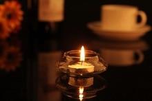 Transparent Glass Candle Holder for Wedding Decoration
