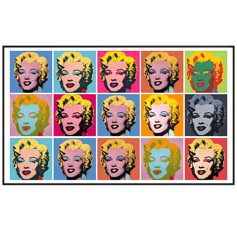 Marilyn Monroe Colorful Canvas Painting Poster Print Famous Andy Warhol Wall Art Picture For Living Room Bedroom Modern Decor