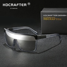 HDCRAFTER Square Shield Sunglasses Men Driving Male Luxury B