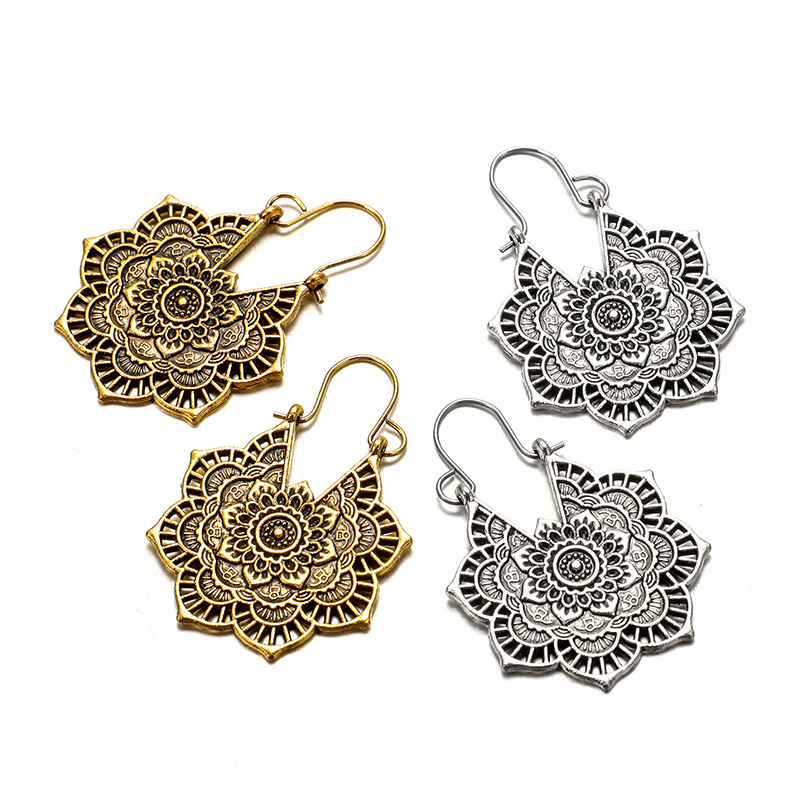 Women's Lace Mandala Drop Earrings 5