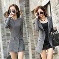 Nuevas mujeres chaqueta ocasional delgada Outwear lana mezclas Trench Coat para mujer largas abrigo de invierno cremallera lateral caliente tallas grandes marca