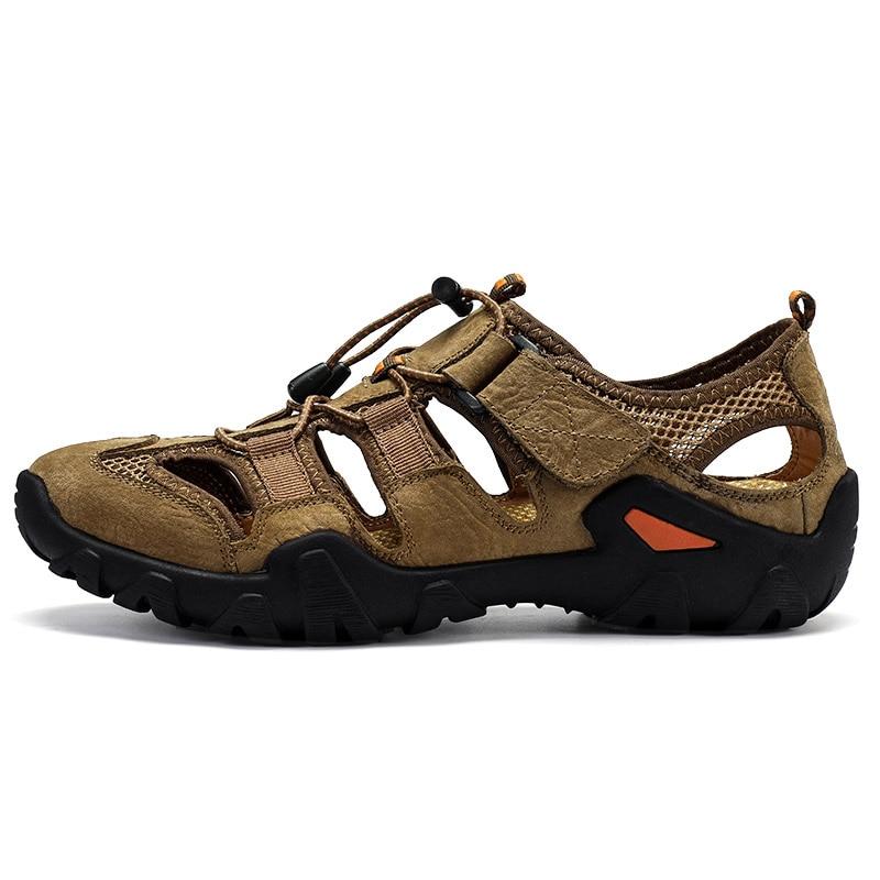 Outdoor Hiking Shoes Waterproof Men Summer Hiking Sandals Genuine ...