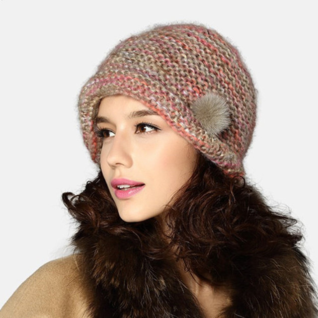cd28409ebce Kenmont Winter Autumn Women Lady 100% Hand knitted Solid Color Acrylic Beanie  Hat Cap 1536
