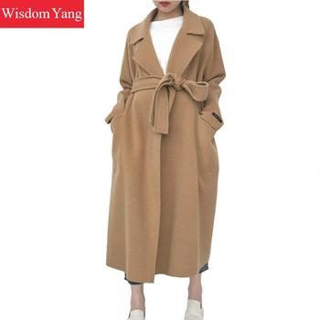 long camel wool coat womens