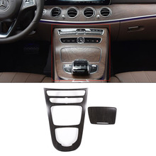 COLLBT Oak Wood Style Car Center Console Gear Panel Frame Cover Trim Stickers
