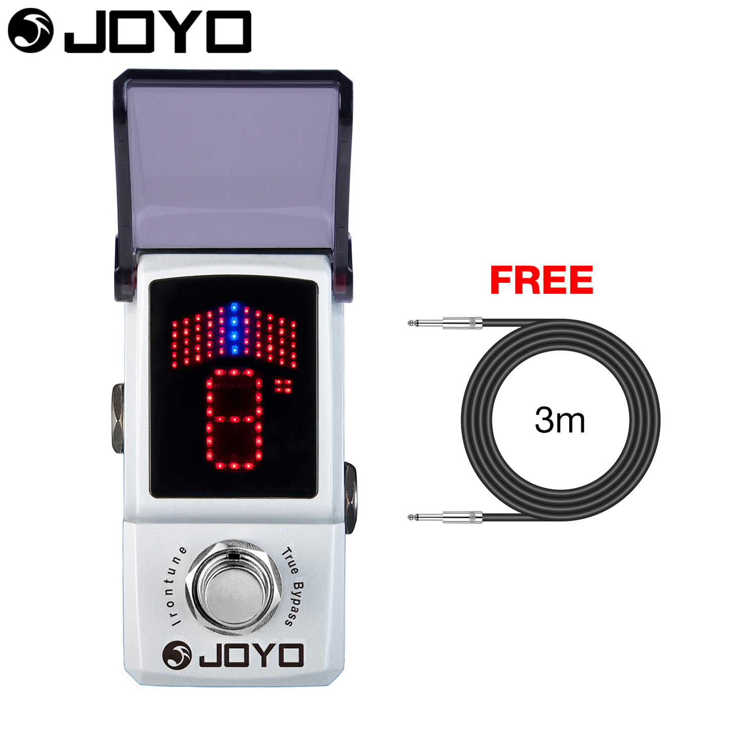 Joyo Irontune Tuner Guitar Effect Pedal True Bypass JF 326 with Free 3m Cable aroma adr 3 dumbler amp simulator guitar effect pedal mini single pedals with true bypass aluminium alloy guitar accessories