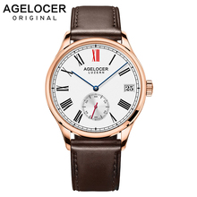 Swiss Agelcoer Gold Wristwatch Gift For Men Luxury Brand Male Exquisite Fashion Dress Watches Time Hours