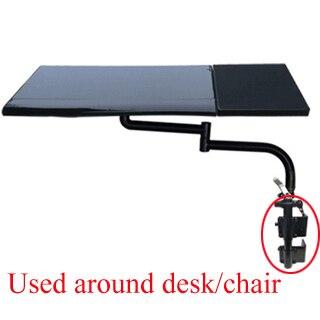 Clavier porte-plateau Table latérale bureau d'ordinateur portable support pour ordinateur portable multifonctionnel bureau bureau EdgeChair jambe bras serrage XL tapis de souris