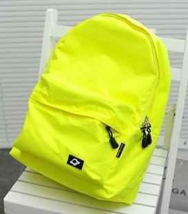 Clearance!!! Neon yellow green ufo backpack student school bag ...