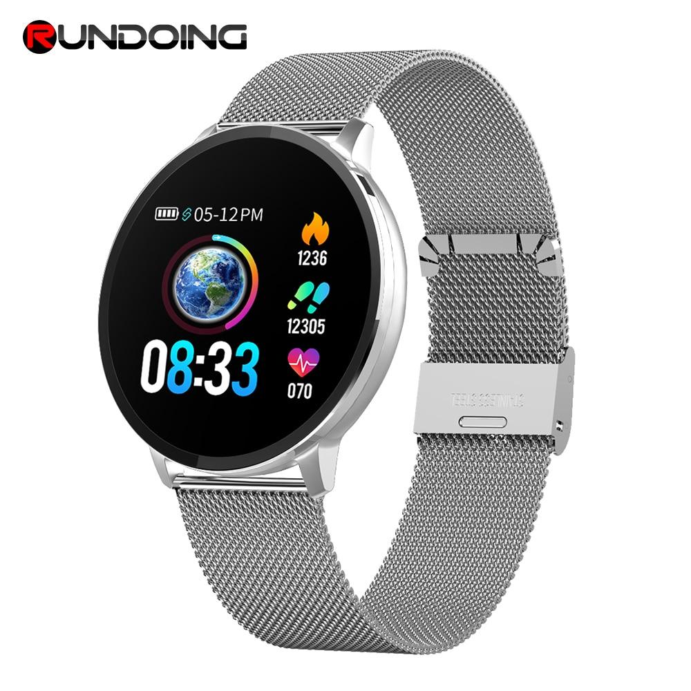 Rundoing NY03 Smart Watch Message call reminder Waterproof Smartwatch Heart rate monitor fashion Fitness Tracker with Hband APP new garmin watch 2019