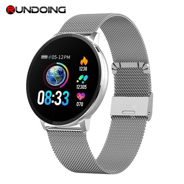 Rundoing NY03 חכם שעון הודעה שיחת תזכורת עמיד למים Smartwatch קצב לב צג אופנה כושר Tracker עם Hband APP