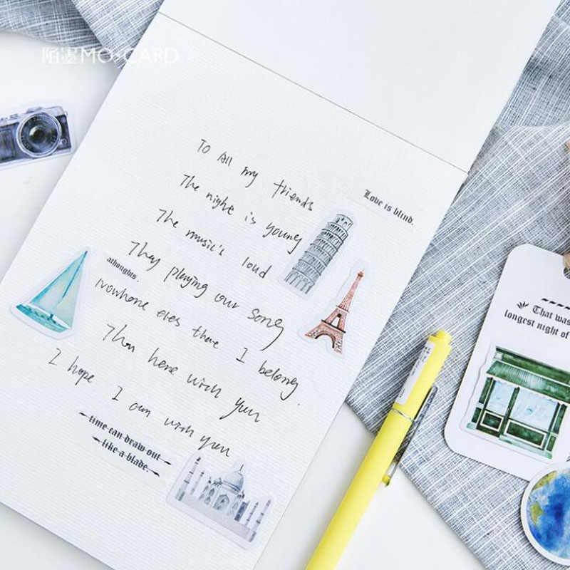 45 قطعة/المجموعة Kawaii القرطاسية السفر ملصقا Creativa مجلة سجل القصاصات ملصقات نمط مذكرات اللوازم المدرسية القرطاسية ملصقات