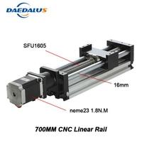 New Arrilval Limited Linear Rails Linear Actuator System Module Table 700mm Travel Length Cnc Guide 1605 Ballscrew Sliding