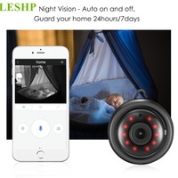 LESHP HD 960P WIFI Mini IP Camera With Mic Speaker Wireless Smart Night Vision Home Security