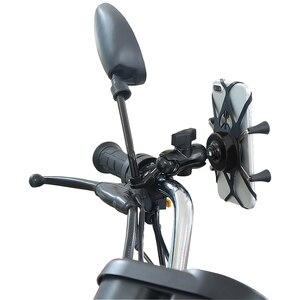 Image 5 - נייד 360 תואר Rotatable אלומיניום סגסוגת אופני E אופני אופנוע נייד טלפון תמיכה מחזיק