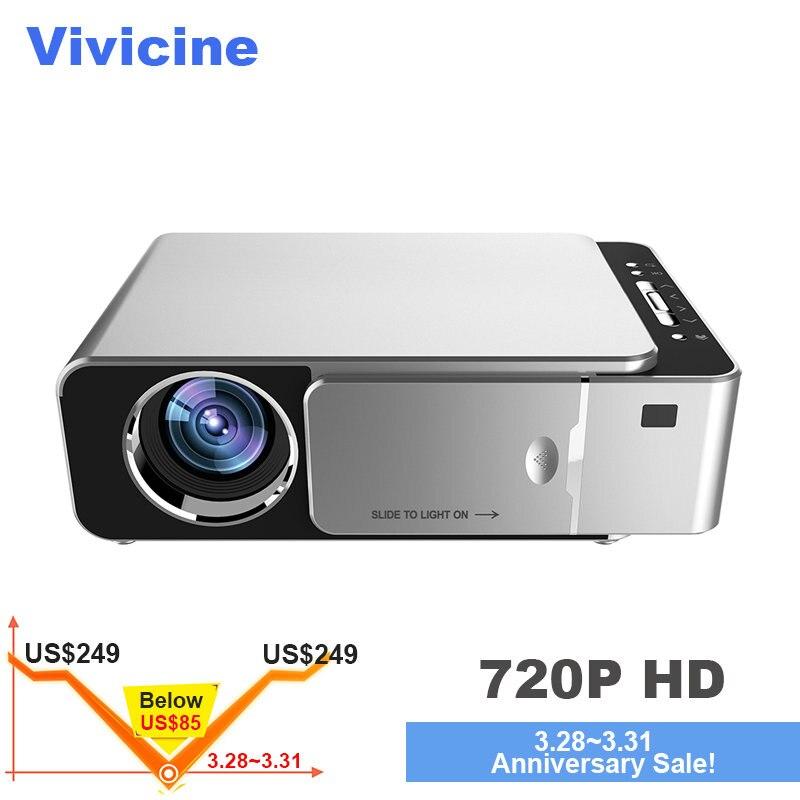 VIVICINE Date V200 1280X720 P led HD Projecteur, En Option Android 7.1 Bluetooth, soutien 4 K Wifi HDMI USB LCD vidéoprojecteur home cinéma