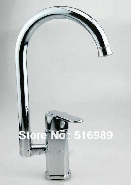 New Swivel Bathroom Faucet Basin Kitchen Sink Mixer Tap Chromed Brass b8480A