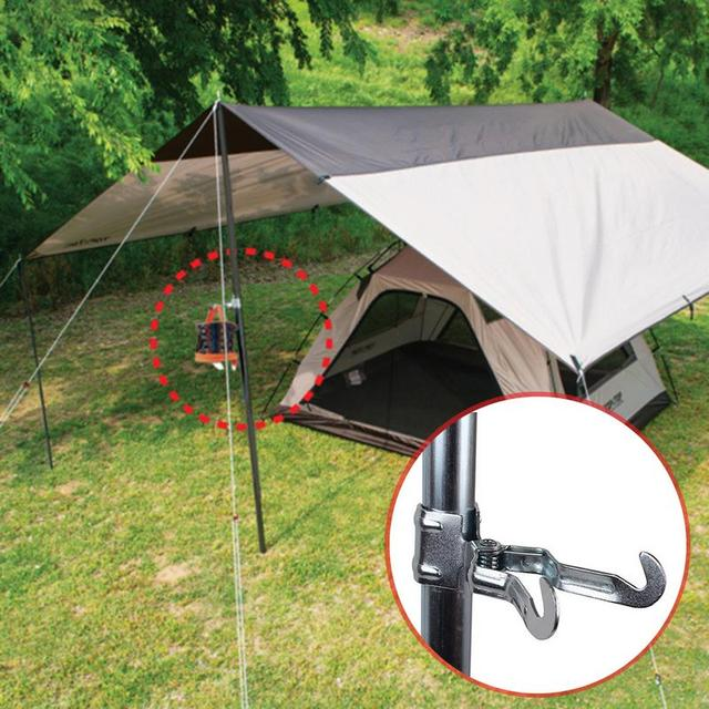 Outdoor Multi-Purpose Clip Camping Light Paper Tissue Hanging Hook Tent Stand Accessories Metal Iron Clip