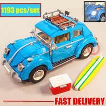 Новый технический гонщик серии Синий Жук автомобиль Город fit legoings Technic автомобиль город модель строительные блоки кирпичи diy игрушка подарок малыш 10252