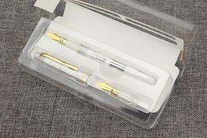 Image 3 - Wingsung asa sung 659 duplo nib iraurita caneta de fonte transparente parafuso conversor