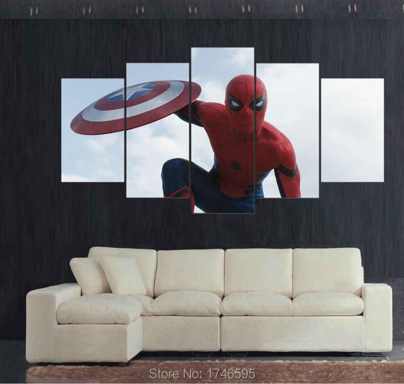 Print Spiderman superhero Movie plakat do dekoracji domu ściany obraz dzieci dzieci dekoracje ścienne drukuj malarstwo na płótnie/PT0099