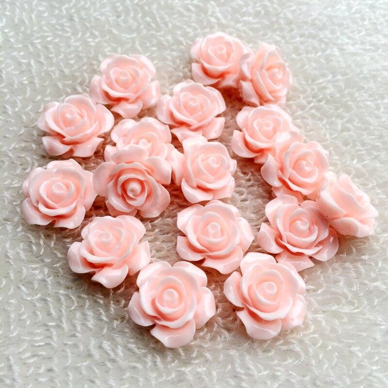 16 mm 4 Cabochons als Rosen in rot