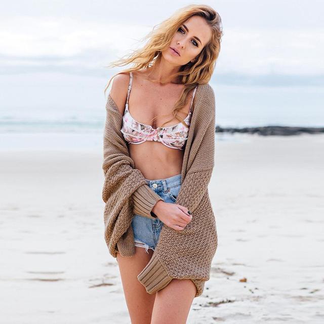 Encogiéndose de hombros suéter de gran tamaño Batwing manga cardigan de punto suéteres de las mujeres de Moda Otoño invierno caliente larga del suéter jumpers